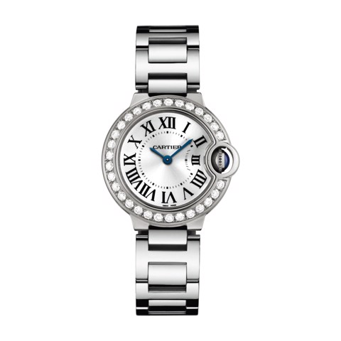Cartier Ballon Bleu de Cartier 28mm White Gold Diamonds Sapphire