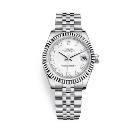 Rolex Datejust 31mm Stainless Steel and White Gold White Dial 178274-0073