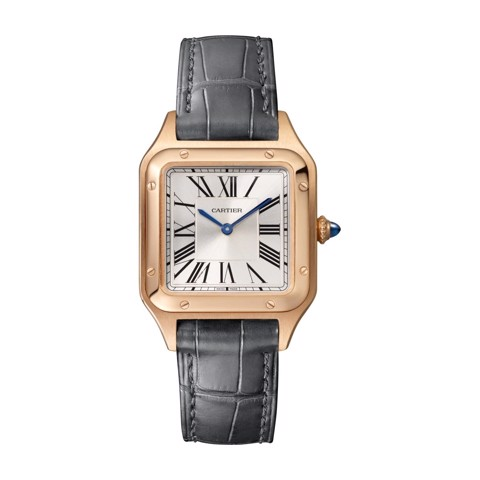 Cartier Santos Dumont Small Pink Gold Leather