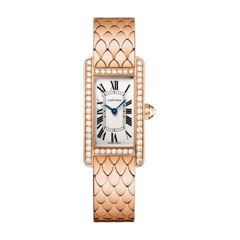 Cartier Tank Américaine Small Model Pink Gold Diamonds
