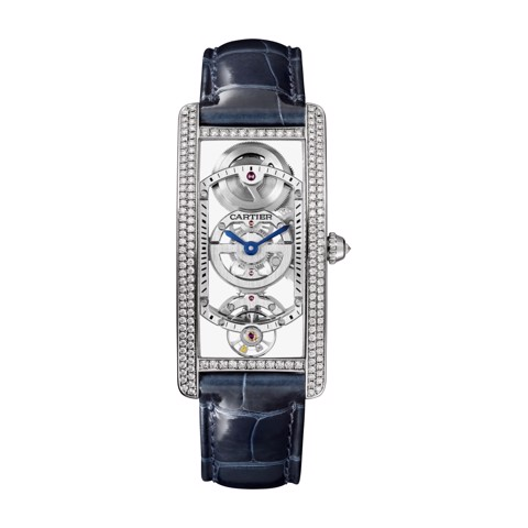 Cartier Tank Cintrée Medium Model Manual Platinum Diamonds