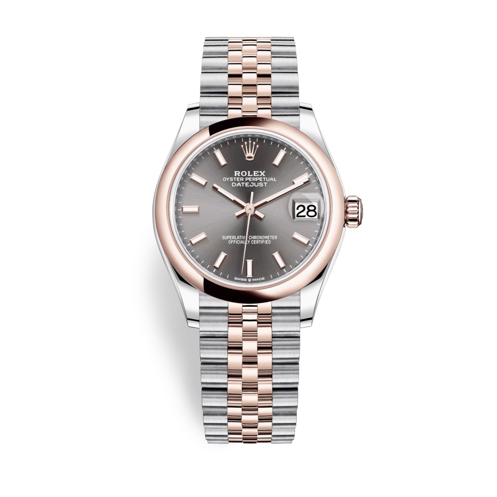 Rolex Datejust 31mm Stainless Steel and Everose Gold Rhodium Dial 278241-0018