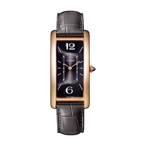 Cartier Tank Cintrée Large Model Pink Gold Leather