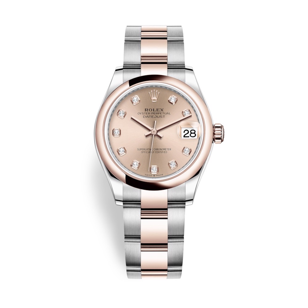 Rolex Datejust 31mm Stainless Steel Everose Gold and Gold Dial 278241-0023