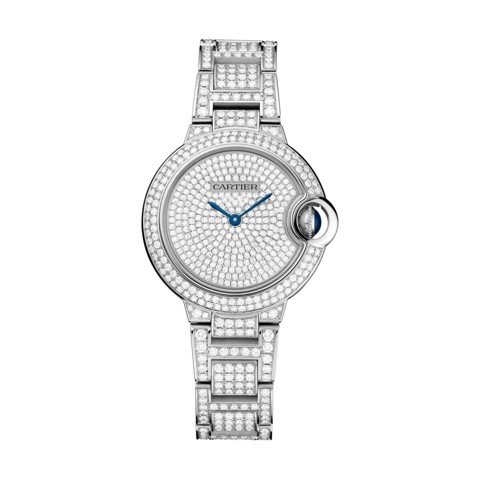 Cartier Ballon Bleu de Cartier 33mm White Gold Diamonds