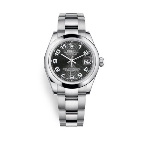 Rolex Datejust 31mm Stainless Steel and Black Dial 178240-0011