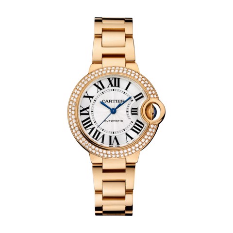 Cartier Ballon Bleu de Cartier 33mm Pink Gold Diamonds