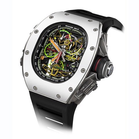 Richard Mille Men Watch RM 50-02 Manual Winding Tourbillon Split-seconds Chronograph ACJ