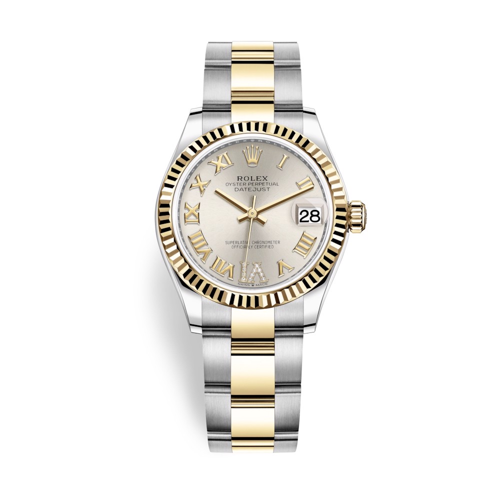 Rolex Datejust 31mm Stainless Steel and Yellow Gold Silver Dial 278273-0003