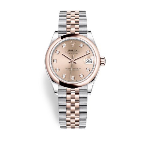 Rolex Datejust 31mm Stainless Steel and Everose Gold Pink Dial 278241-0024