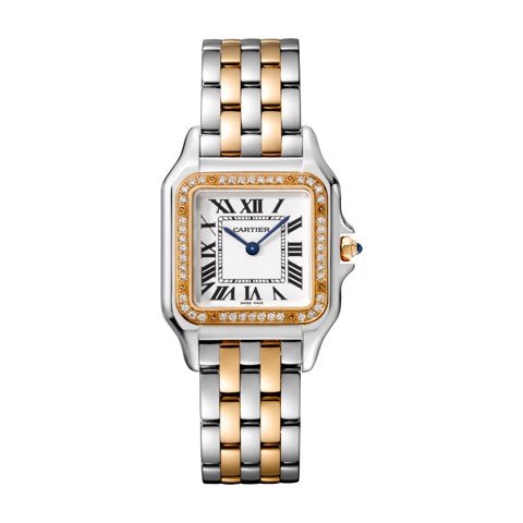 Cartier Panthère de Cartier Medium Model Pink Gold And Stainless Steel Diamonds