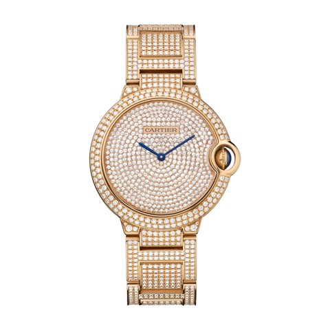 Cartier Ballon Bleu de Cartier 36mm Pink Gold Diamonds