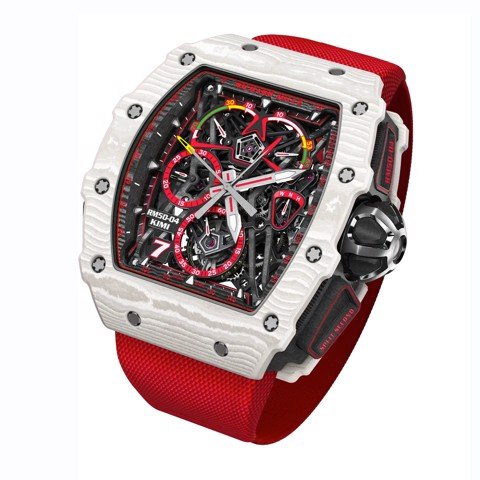 Richard Mille Men Watch RM 50-04 Manual Winding Tourbillon Split-Seconds Chronograph Kimi Räikkönen