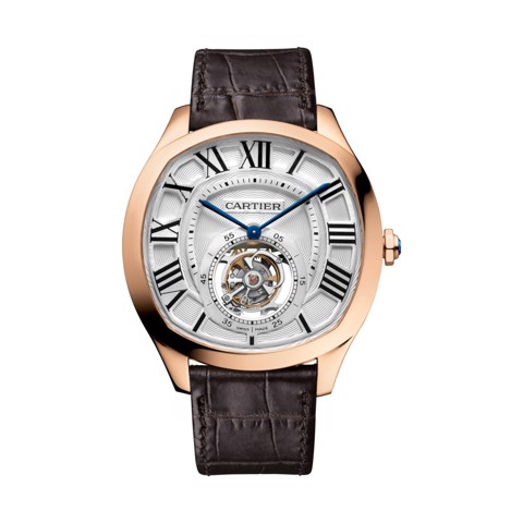 Cartier Drive De Cartier Flying Tourbillon Pink Gold Leather