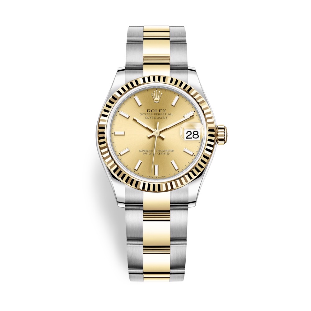 Rolex Datejust 31mm Stainless Steel and Yellow Gold Champagne Dial 278273-0013