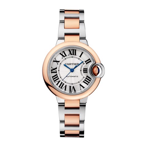 Cartier Ballon Bleu de Cartier 33mm Pink Gold Steel