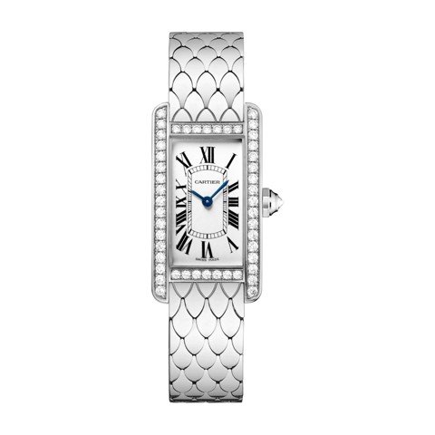 Cartier Tank Américaine Small Model White Gold Diamonds