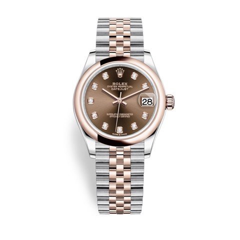 Rolex Datejust 31mm Stainless Steel and Everose Gold Chocolate Dial 278241-0028