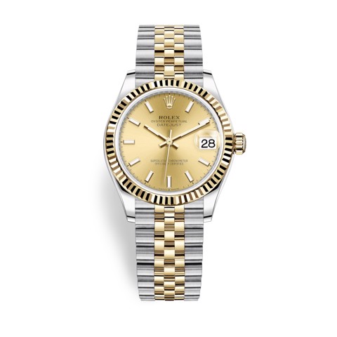 Rolex Datejust 31mm Stainless Steel and Yellow Gold Champagne Dial 278273-0014