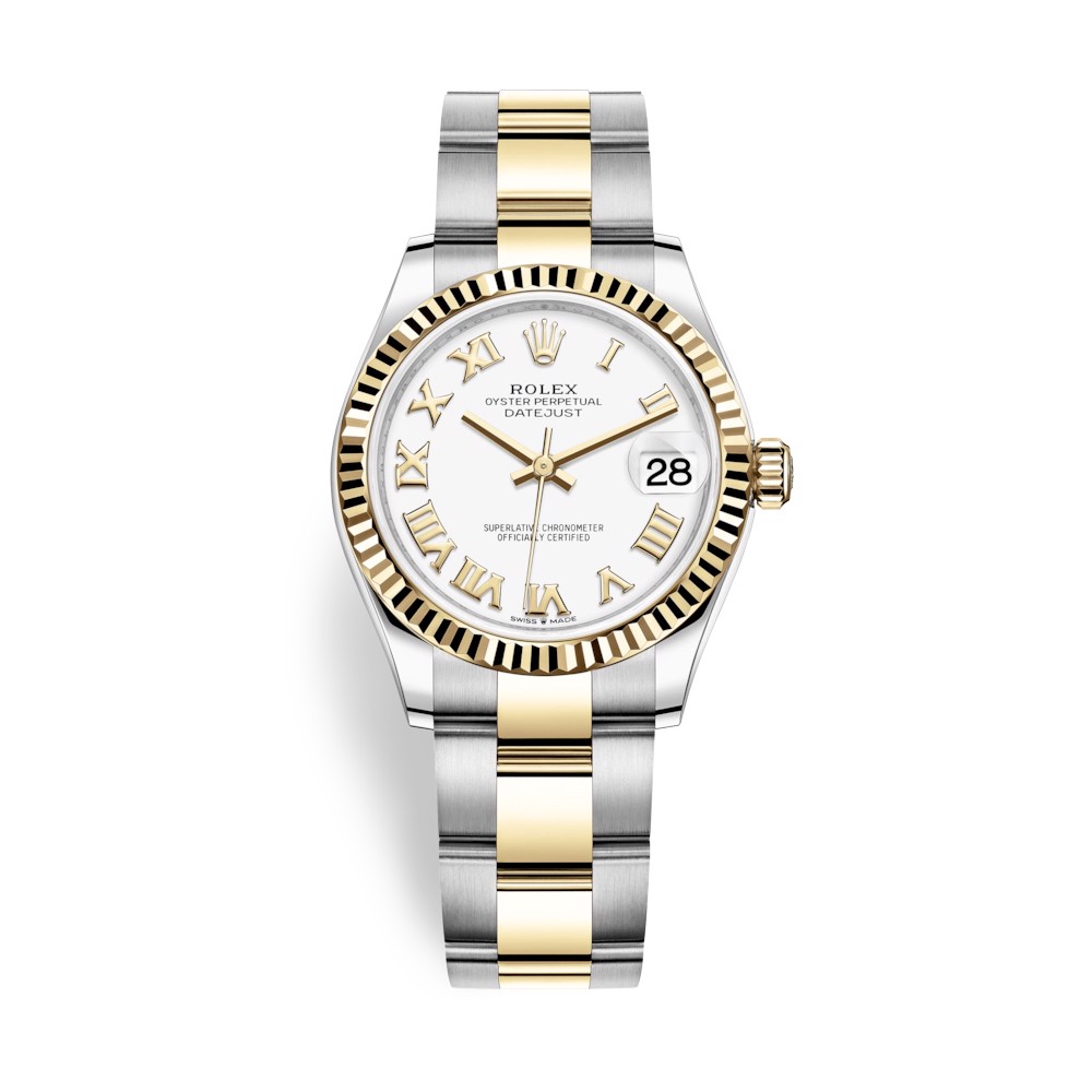 Rolex Datejust 31mm Stainless Steel and Yellow Gold White Dial 278273-0001