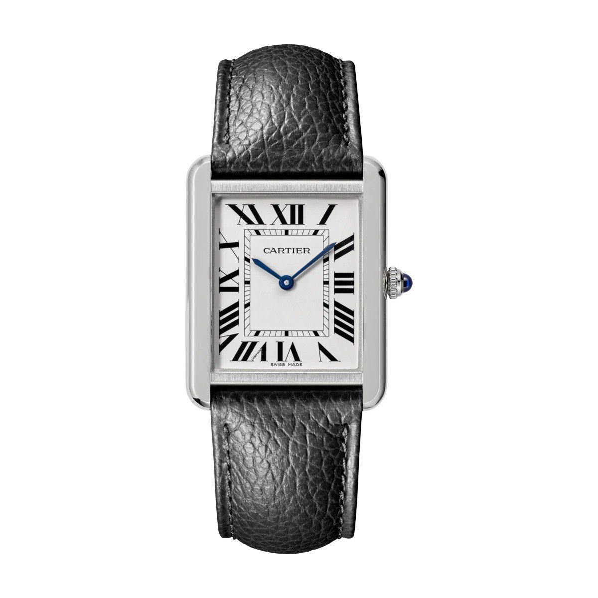 Cartier Tank Solo Large Model Steel Leather