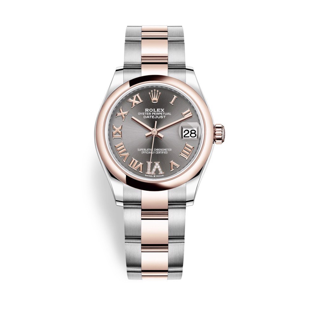 Rolex Datejust 31mm Stainless Steel Everose Gold and Rhodium Dial 278241-0029