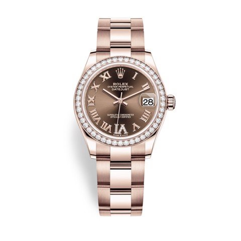 Rolex Datejust 31mm Everose Gold and Chocolate Dial 278285RBR-0015