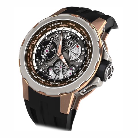 Richard Mille RM 58-01 Manual Winding Tourbillon Worldtimer Jean Todt