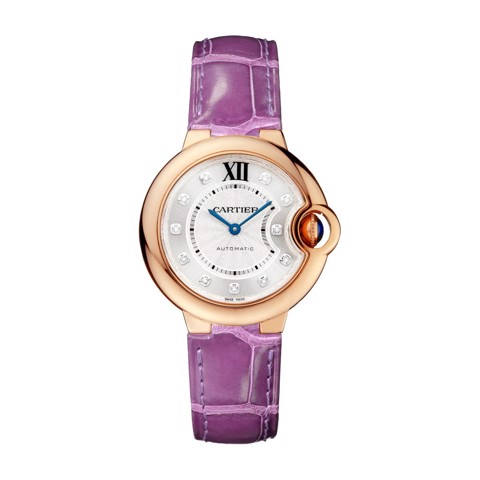 Cartier Ballon Bleu de Cartier 33mm Pink Gold Diamonds Leather