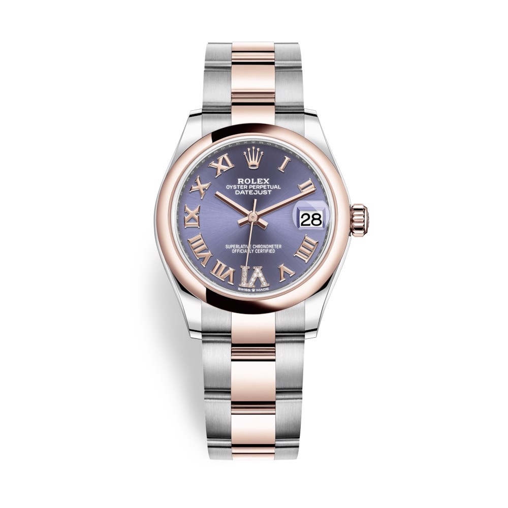 Rolex Datejust 31mm Stainless Steel and Everose Gold Aubergine Dial 278241-0019