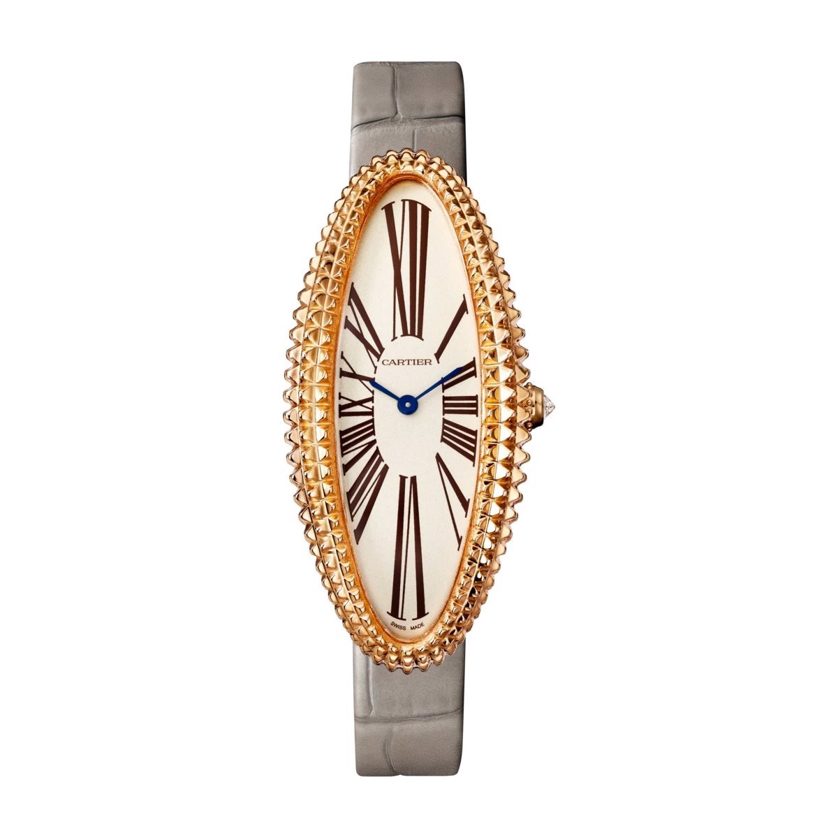 Cartier Baignoire Allongée Medium Pink Gold Leather