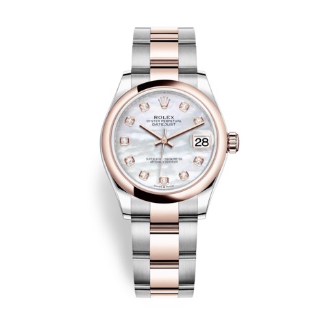 Rolex Datejust 31mm Stainless Steel Everose Gold and MOP Dial 278241-0025