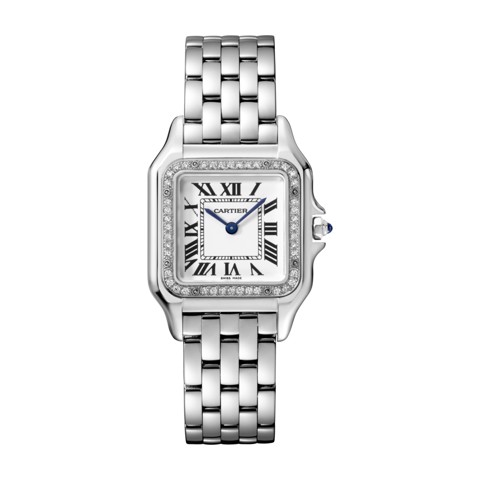 Cartier Panthère de Cartier Medium Model Steel Diamonds