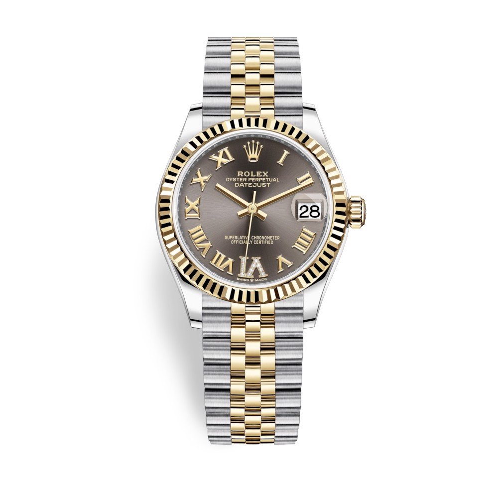 Rolex Datejust 31mm Stainless Steel and Yellow Gold Grey Dial 278273-0018
