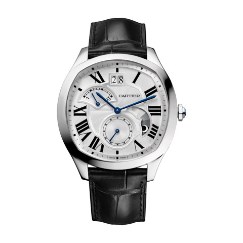 Cartier Drive De Cartier Large Date Retrograde Second Time Zone And Day Night indicator Steel Leather