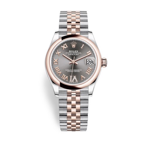 Rolex Datejust 31mm Stainless Steel and Everose Gold Rhodium Dial 278241-0030