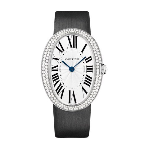 Cartier Baignoire Allongée Large White Gold Diamonds Fabric