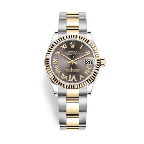 Rolex Datejust 31mm Stainless Steel and Yellow Gold Grey Dial 278273-0017