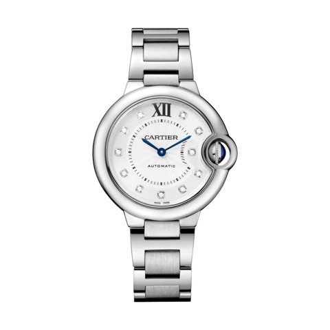 Cartier Ballon Bleu de Cartier 33mm Steel Diamonds