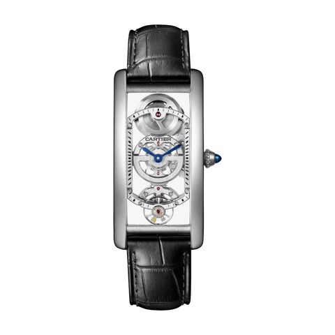 Cartier Tank Cintrée Medium Model Manual Platinum