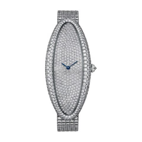 Cartier Baignoire Allongée XL White Gold Diamonds