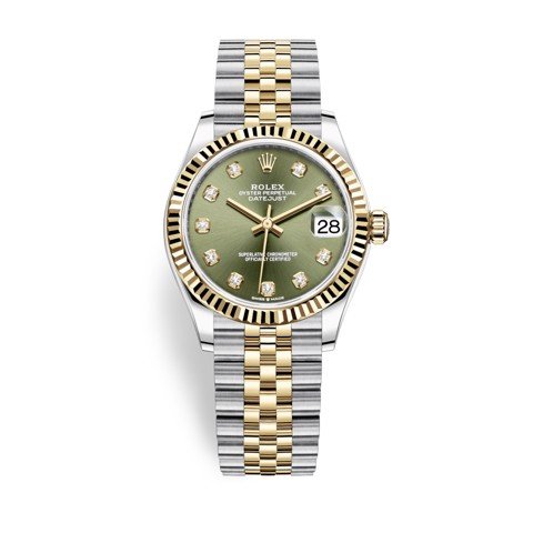Rolex Datejust 31mm Stainless Steel and Yellow Gold Green Dial 278273-0030