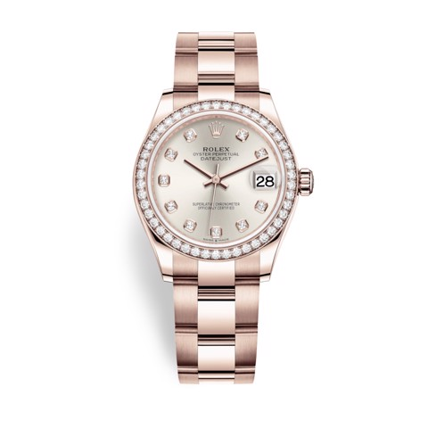 Rolex Datejust 31mm Everose Gold and Diamonds 278285RBR-0019