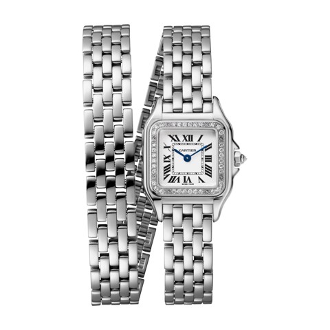 Cartier Panthère de Cartier Small Model Double Loop White Gold Diamonds