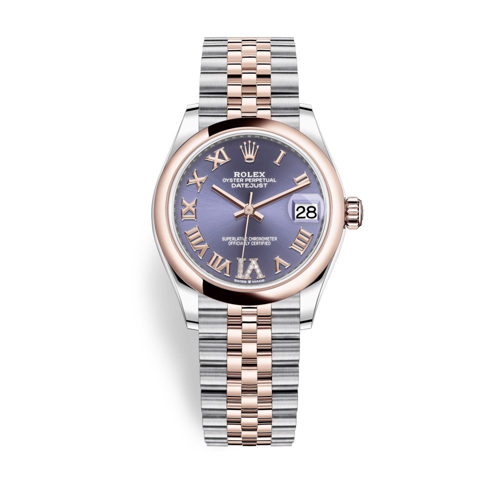 Rolex Datejust 31mm Stainless Steel and Everose Gold Aubergine Dial 278241-0020