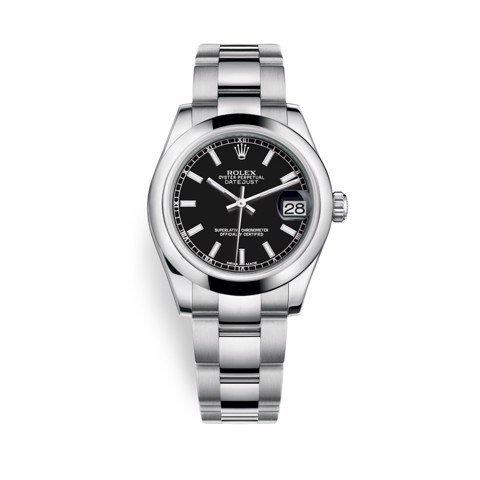 Rolex Datejust 31mm Stainless Steel and Black Dial 178240-0025