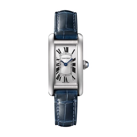 Cartier Tank Américaine Small Model Steel Leather