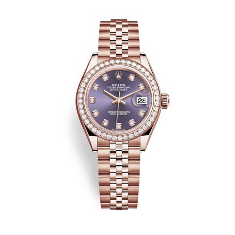 Rolex Datejust 31mm Everose Gold and Aubergine Dial 279135RBR-0011