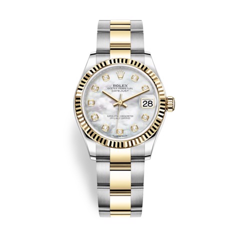 Rolex Datejust 31mm Stainless Steel and Yellow Gold MOP Dial 278273-0027
