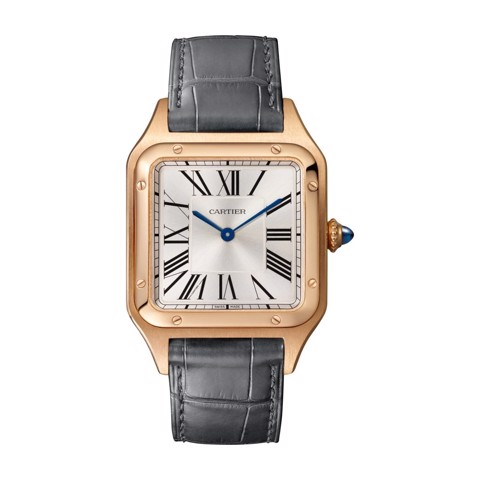 Cartier Santos Dumont Large Pink Gold Leather